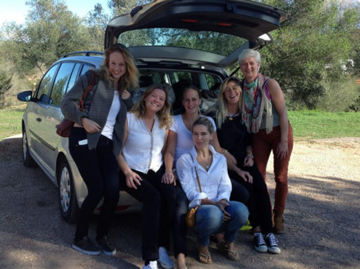 group in car